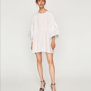 NWOT Zara white shirt dress S